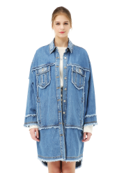 Denim long shirt
