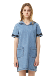 Sailor denim dress