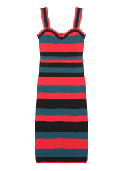 Stripe bustier knit dress