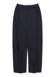 Stripe wool blended pants