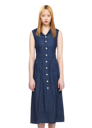Maxi denim sailor dress