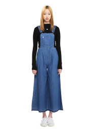Maxi flare overall pants