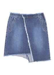 Unbalanced denim skirt