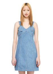 Denim fit n flare dress