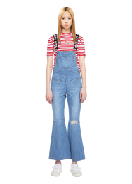 Denim long overall