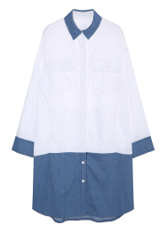 Color blocked oversized shirts