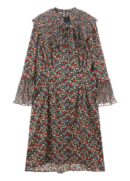 Flower print pleats dress