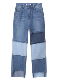 Multi patched cut off jeans