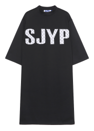 sjyp lace embroidery dress