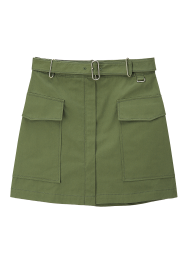 Solid pocket skirt