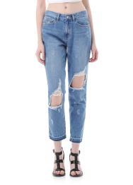 Destroyed semi baggy jeans