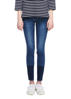 Cut-off skinny jeans
