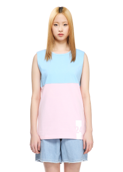 Sjyp back label sleeveless t-shirts