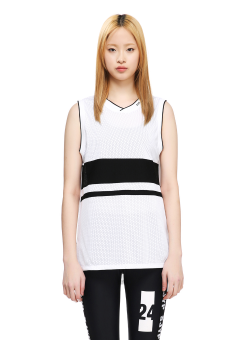 Sjyp mesh sleeveless top