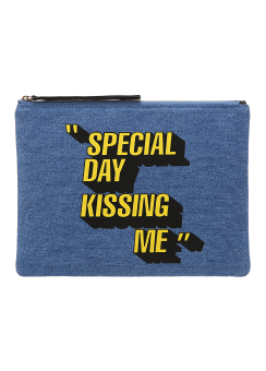 Special day denim clutch