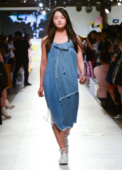 Unbalanced denim dress