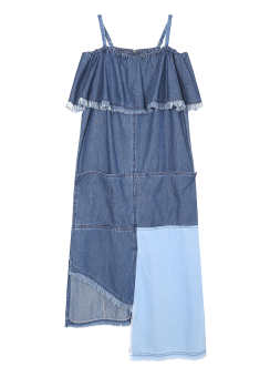 Multi denim dress