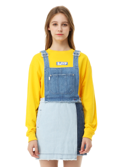Love me denim overall dress