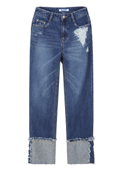 Roll over style jeans