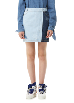 Multi denim skirt