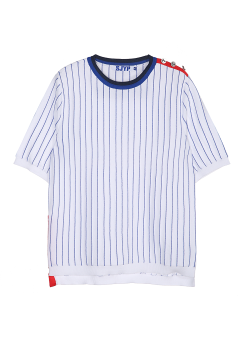 Stripe sutton knit top