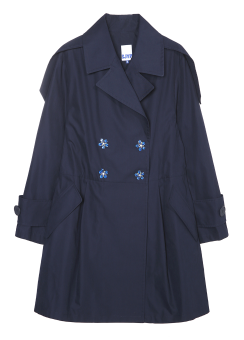 Jewerly snap detail trench coat