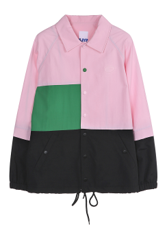 Color block wind breaker blouse