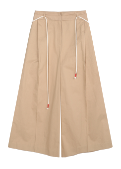 String wide trouser pants