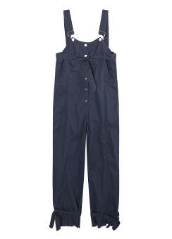 Strap detail overall pants