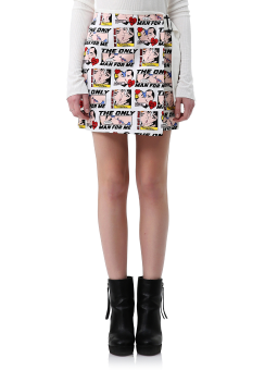Marvel wrap mini skirt