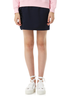 Side frill mini skirt
