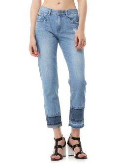 Multi cut off jeans