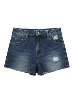 Destroyed denim shorts