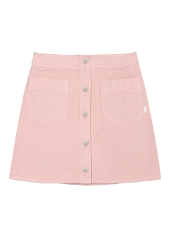 Front botton denim skirt
