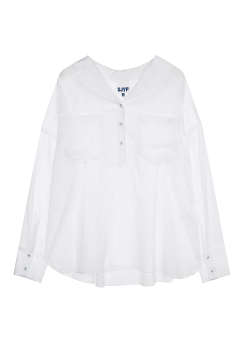Smocking pocket shirt