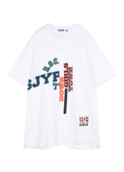 Multi patched tee