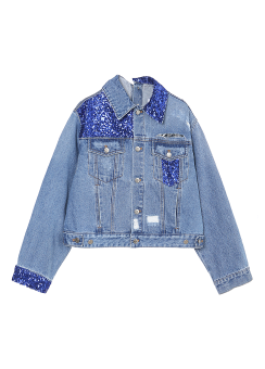 Spangle denim jacket