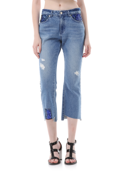 Spangle detail jeans