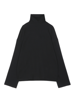 Shoulder cut turtle neck tee