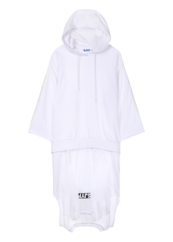 Multi patched hoodie dress