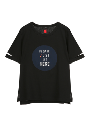 Circle plain single t-shirts