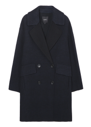 Glen check coat