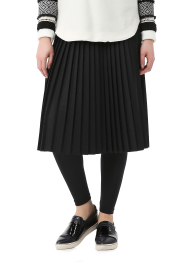 Twill flannel skirt leggings