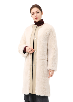 Wool 30per fur coat