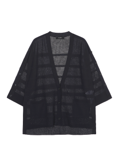 Solid knit cardigan