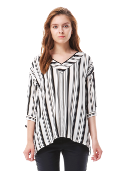 Gentle stripe blouse