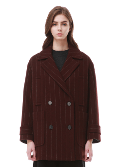 Stripe double coat