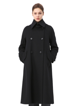 Trapeze black coat