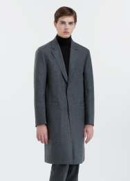[Men] Raw edge light coat