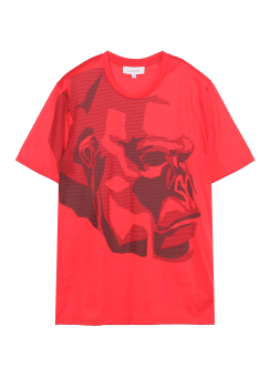 [Men] MERCERIZED PIMA COTTON SHORT SLEEVES TEE WITH MONKEY PRINT